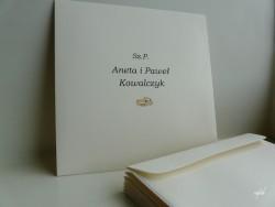 koperty kwadratowe kremowe z personalizacją